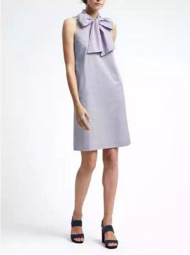 stripe-bow-neck-dress