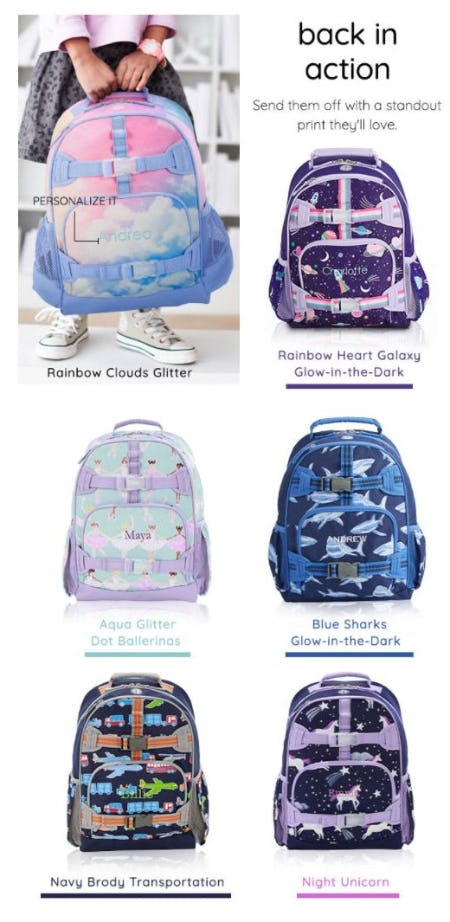 Brand-New Backpacks Are Here from Pb Teen