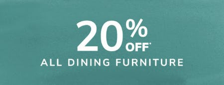 20% Off All Dining Furniture