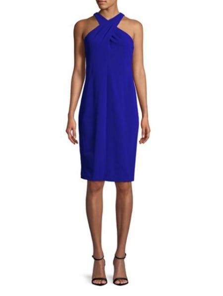 Calvin Klein Crisscross Sheath Dress