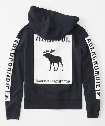 Graphic Logo Full-Zip Hoodie from abercrombie