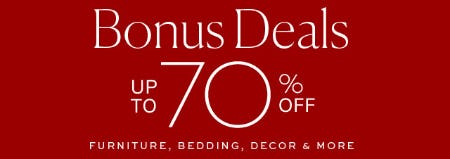 Up to 70% Off Bonus Deals