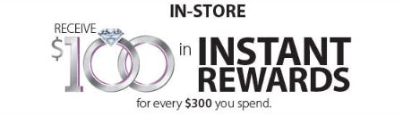 Receive $100 in Instant Rewards