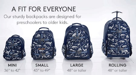 Backpacks Fit for Everyone from Pottery Barn Kids