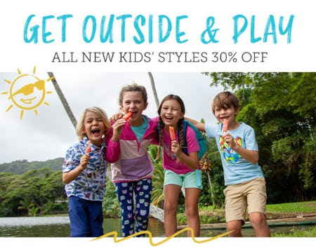 All New Kids' Styles 30% Off