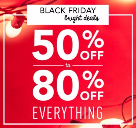 50% Off to 80% Off Everything