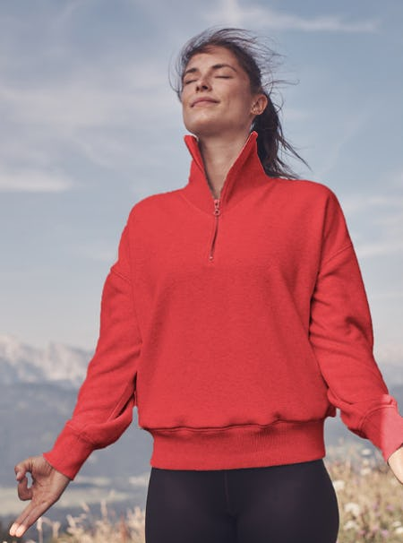 Our New Cozy Karma 1/4 Zip from Athleta