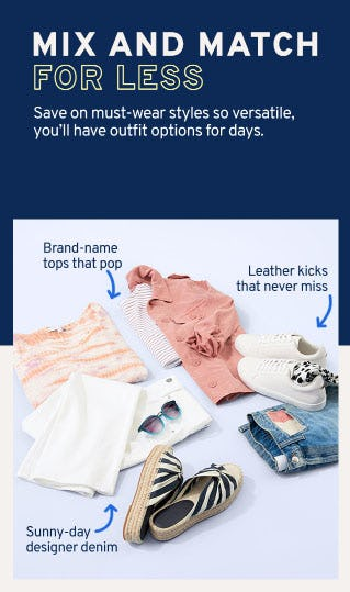 Mix and Match for Less from Marshalls