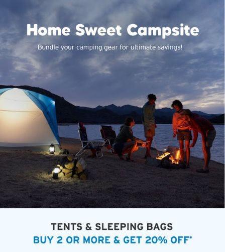 Buy 2 or More & Get 20% Off Tents & Sleeping Bags from Eddie Bauer
