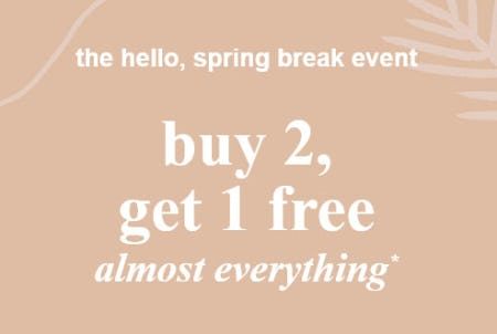 Buy 2, Get 1 Free Almost Everything from Abercrombie Kids