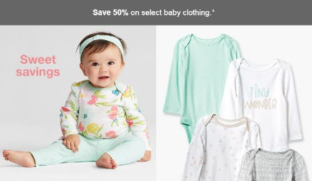 50% Off Select Baby Clothing from Target