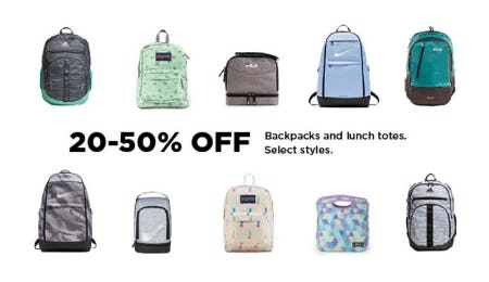 20-50% Off Backpacks & Lunch Totes from Kohl's