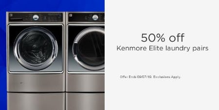 50% Off Kenmore Elite Laundry Pairs from Sears