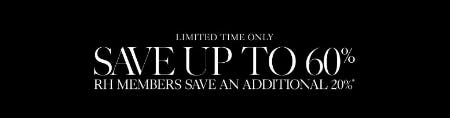 Up to 60% Off Sale from Restoration Hardware