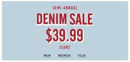 Semi-Annual Denim Sale