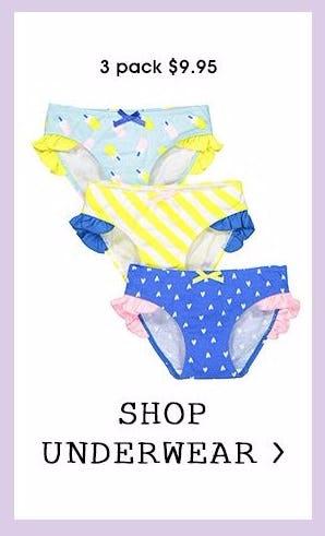 Kids' 3-Pack Underwear for $9.95