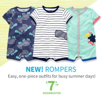 $7 & Up Rompers from Carter's Oshkosh