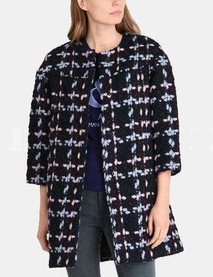 Modern Wool Boucle Coat