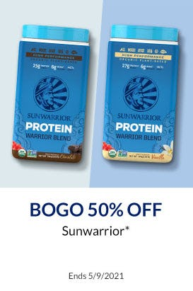 BOGO 50% Off Sunwarrior from The Vitamin Shoppe