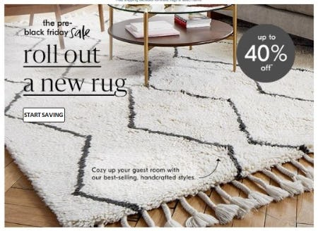 Up to 40% Off Rugs from West Elm