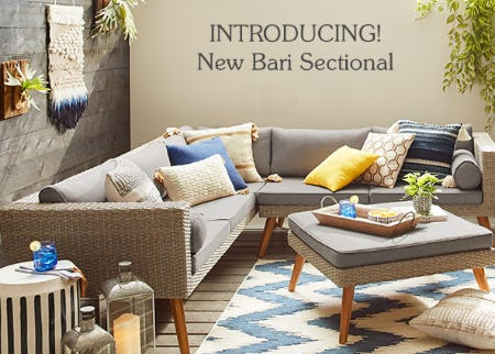 New Bari Sectional from Pier 1 Imports