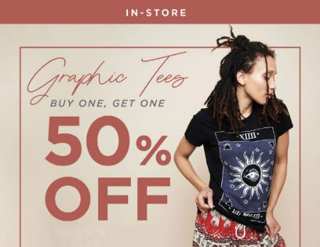 BOGO 50% Off Graphic Tees from Earthbound Trading Company