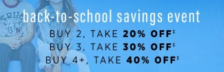 Back-to-School Savings Event from Saks Fifth Avenue OFF 5TH