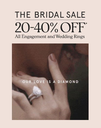 20-40% Off The Bridal Sale