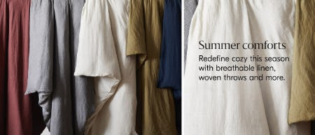 Summer Comforts from West Elm