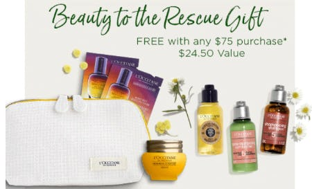 Beauty to the Rescue Gift Free With Any $75 Purchase from L'occitane En Provence