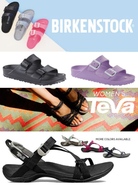 Summer Sandals from Birkenstock and Teva from Sun & Ski Sports