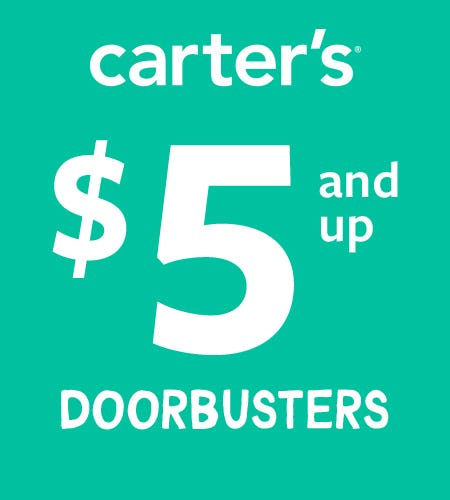 $5 and up Doorbusters* from Carter's Oshkosh