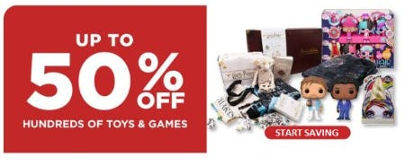 Up to 50% Off Hundreds of Toys & Games from Books-A-Million