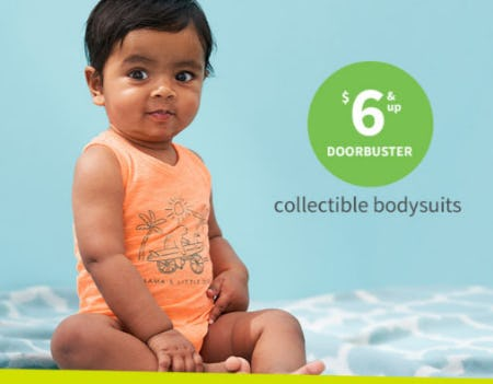 $6 & Up Doorbuster Collectible Bodysuits from Carter's Oshkosh
