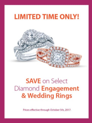 Save on Select Diamond Rings