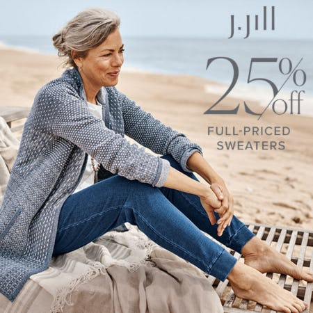 25% off Full-Priced Sweaters from J.Jill