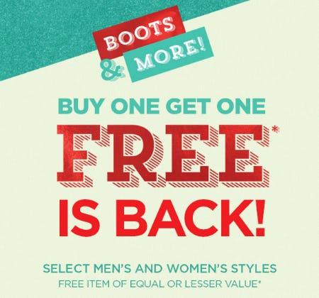 BOGO Free Boots & More