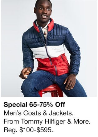 65-75% Off Men's Coats & Jackets from Tommy Hilfiger & More
