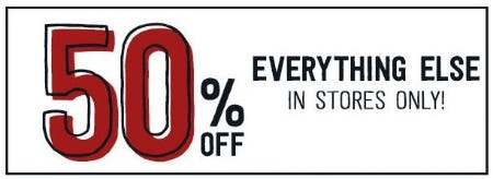 50% Off Everything Else in Stores from Crazy 8