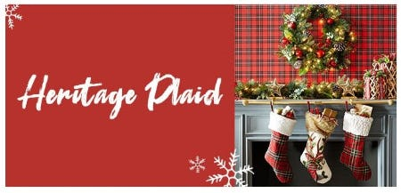 The Heritage Plaid Collection from Pier 1 Imports