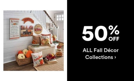 50% Off All Fall Decor Collections from Michaels