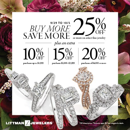 Buy More Save More from Littman Jewelers