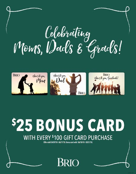 BRIO Tuscan Grille Celebrates Moms, Dads & Grads from Brio Tuscan Grille
