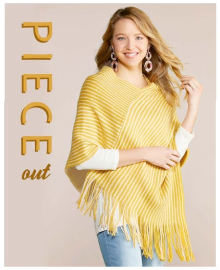 Poncho-ver and Out from Versona Accessories
