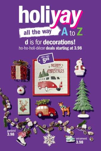 Decor Deals Starting at $3.98 from Gordmans