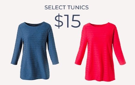 $15 Select Tunics from Chico's
