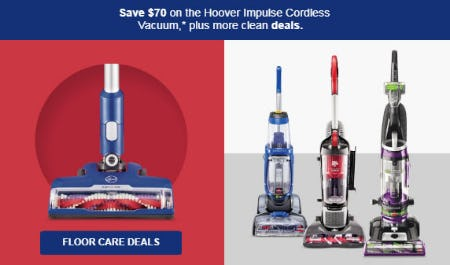 Save $70 Floor Care Deals from Target
