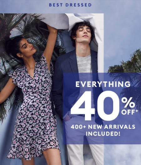 Everything 40% Off from Banana Republic Factory Store
