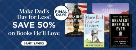50% Off Books He'll Love from Books-A-Million