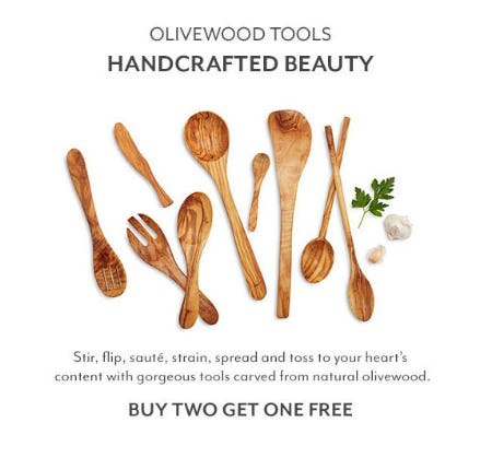 B2G1 Free Olivewood Tools from Sur La Table